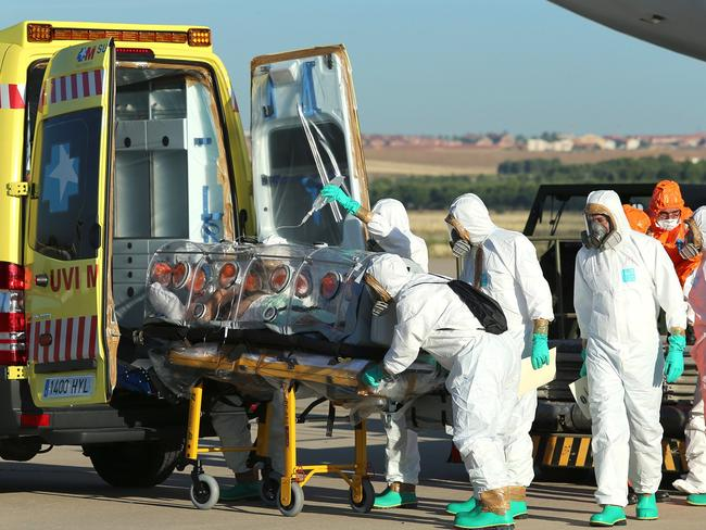 Each prepper has their own personal nightmare scenario, like the current Ebola outbreak in West Africa which has killed nearly 1000 people. Pic: AFP.