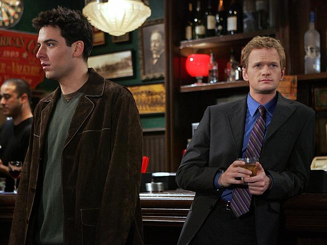 Ted and Barney ponder life's big questions at McLaren's bar.
