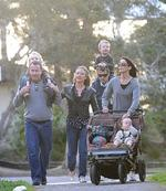 <p>Crown Princess Mary and Prince Frederik of Denmark take a stroll in Manly with their children and Amber Petty. Pic: Brad Hunter</p>