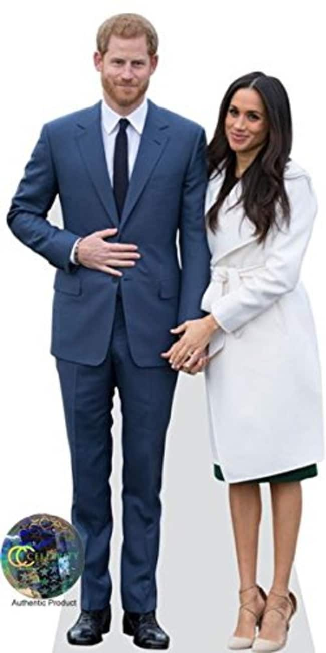 Harry and Meghan life-size cutouts. Picture: Amazon