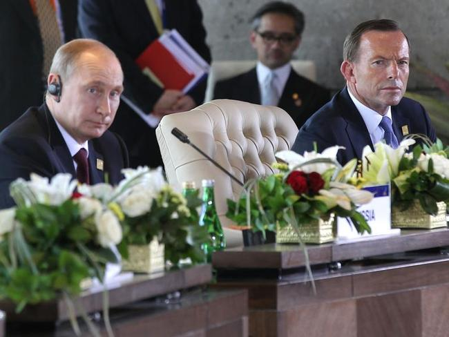 Tony Abbott has been particularly vocal against Russia since the downing of MH17. Picture: Alex Ellinghausen