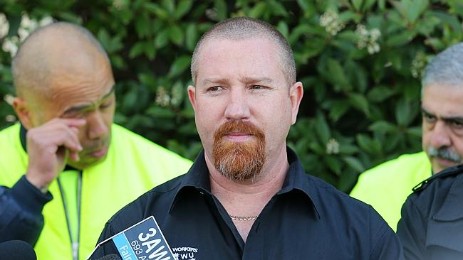 AMWU assistant state secretary Leigh Diehm after Ford Australia announces the closure of the Geelong and Broadmeadows plants resulting in the redundancy of up to 1200 workers.