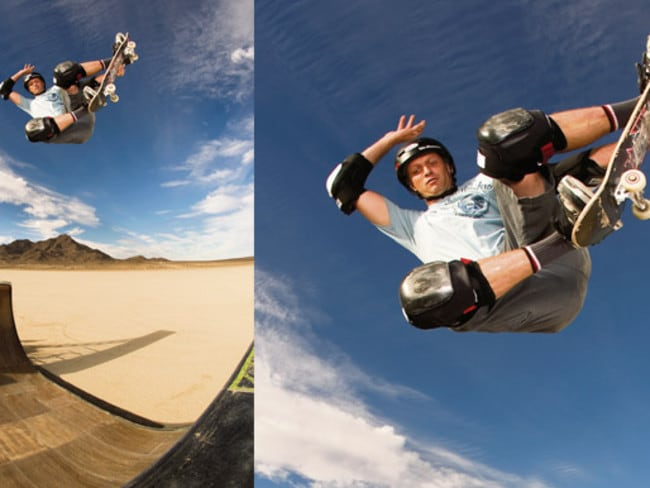 Skateboarder Tony Hawk is still soaring.