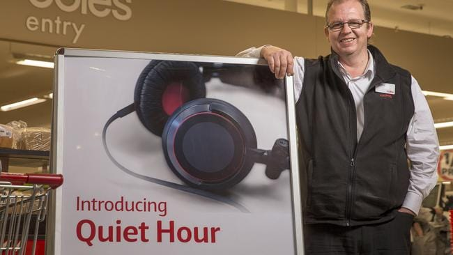 "Coles Ringwood Square was one of the first locations to trial ""quiet hour"" to make shopping easier for people with autism. Photo: Daniel Pockett"