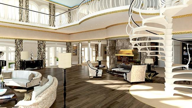 The interior of the ship is also designed to invoke the luxurious trappings of Monaco.