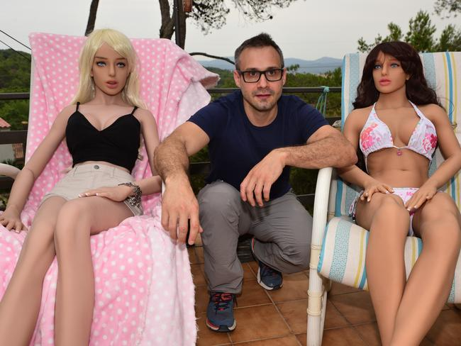Sex robot creator Sergi Santos says he is not perturbed by criticism of his work. Picture: Ronan O'Connell