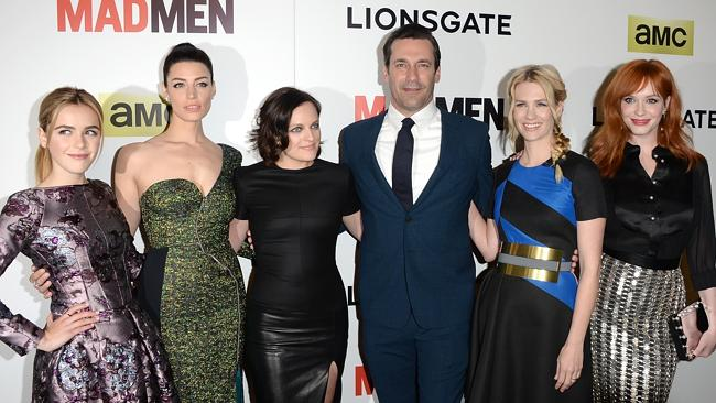 Actors Kiernan Shipka, Jessica Pare, Elisabeth Moss, Jon Hamm, January Jones and Christin