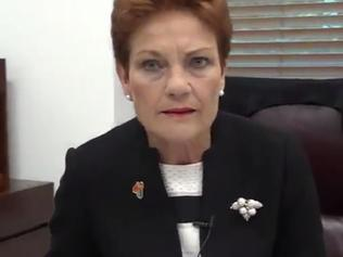 Pauline Hanson introduced her own post London attack hash tag: #Pray4MuslimBan. Picture: Twitter/Pauline Hanson