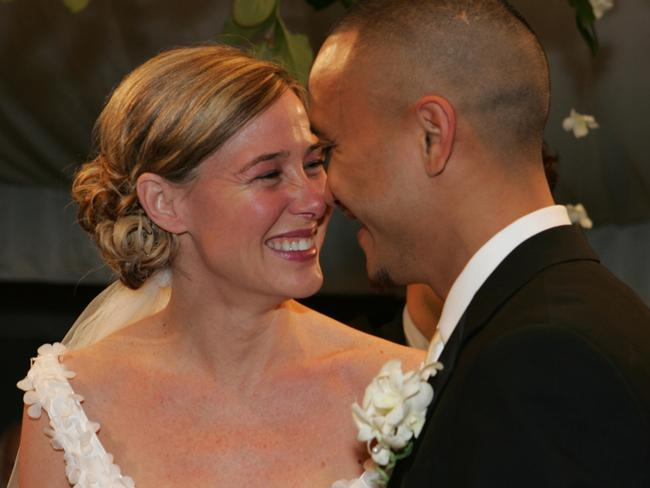 Mary Kay LeTourneau with husband Vili Fualaau at their 2005 wedding. Picture: Supplied