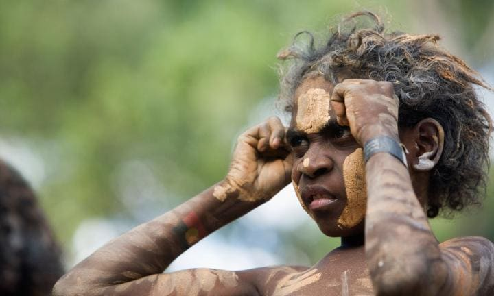 Aboriginal boy. Laura Aboriginal Dance Festival, Laura, Queensland, Australia. Image shot 06/2009. Exact date unknown.
