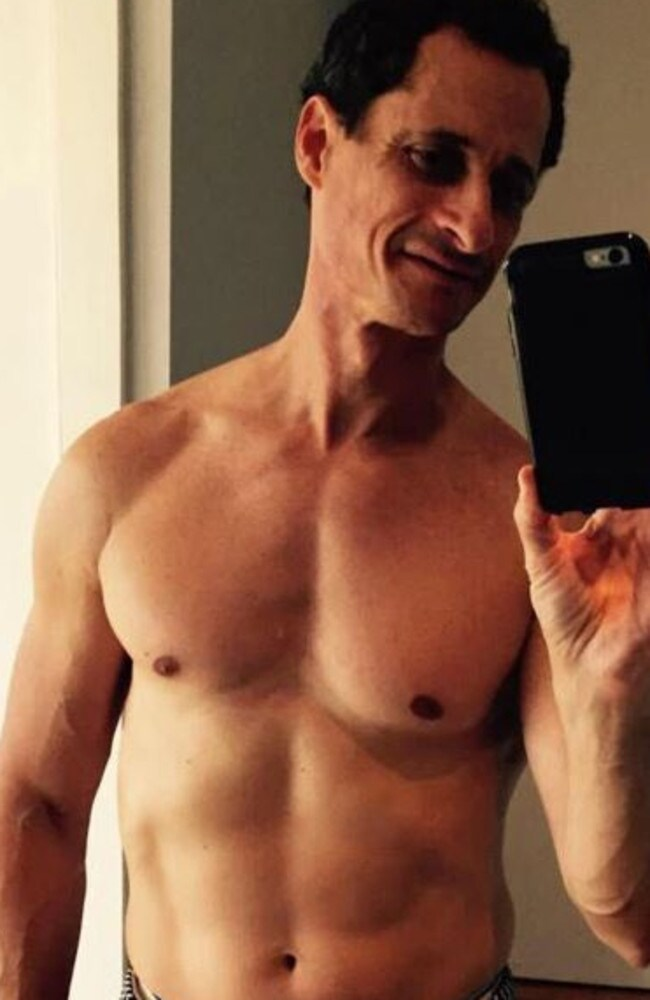 One of the selfie's Anthony Weiner sent. Picture: Supplied
