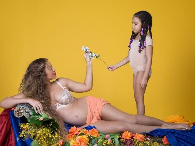 Beyoncé's daughter, five-year-old Blue Ivy, also features in the snaps. Picture: Beyonce.com