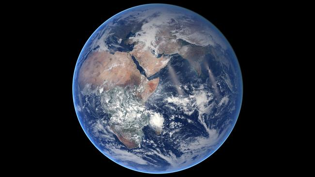 Composite image of the eastern hemisphere created from eight satellite orbits. Picture: NASA