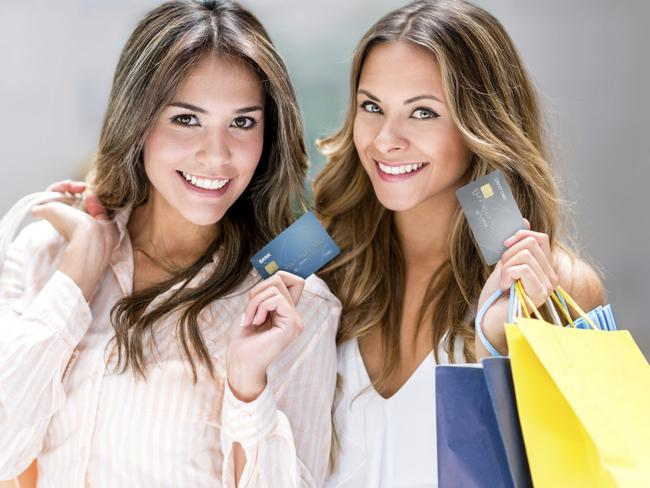 Two women shopping and they are paying using their credit card. Picture: iStock.