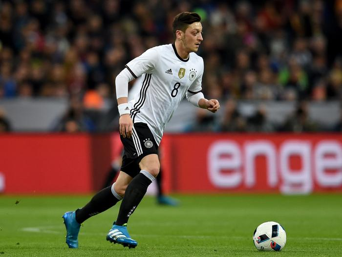 Mesut Ozil in action for Germany.