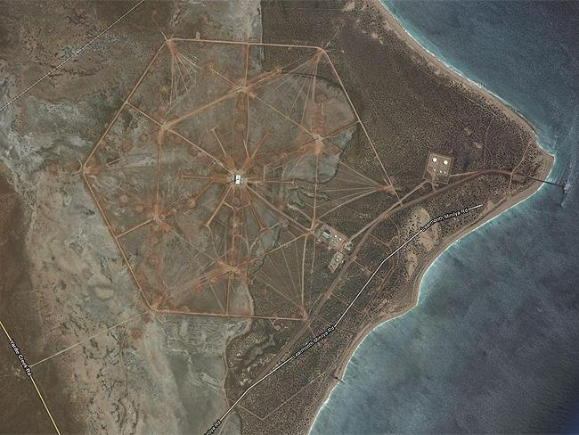 Top Secret sites: North West Cape, US Navy signals base near Exmouth, WA. Source: Google Earth