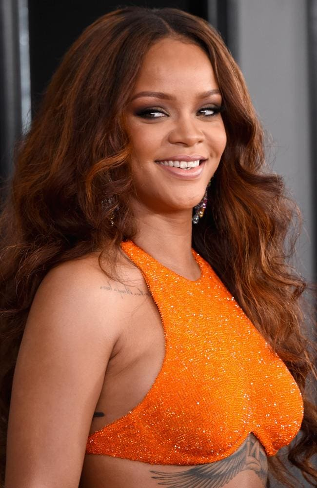 Rihanna's expression when she saw Drake's new girlfriend, JLo (we're guessing). Picture: Getty Images