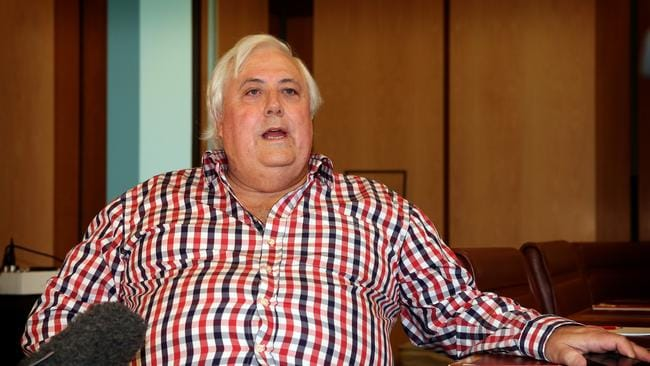 Palmer, pictured at Parliament House in Canberra, pulled his support for the carbon repeal bill last week,
