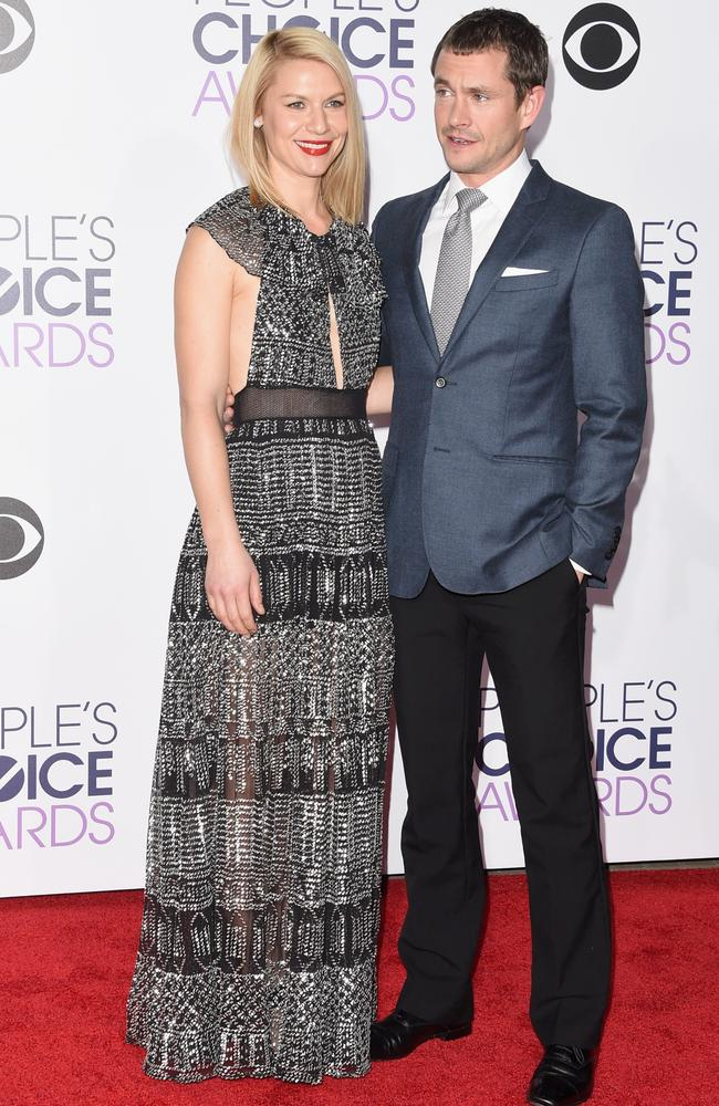Claire Danes and Hugh Dancy attend the People's Choice Awards 2016. Picture: Jason Merritt/Getty Images/AFP