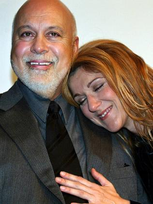 True love ... Rene Angelil and wife, Celine Dion. Picture: AFP