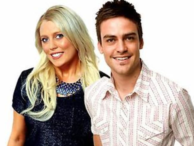 2Day FM DJs Mel Greig and Michael Christian.