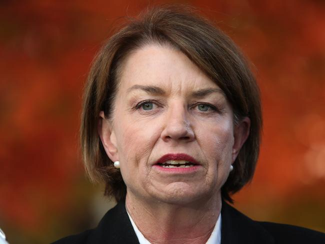 Australian Bankers Association CEO Anna Bligh says a bad tax has now become a secret tax. Picture: Kym Smith.