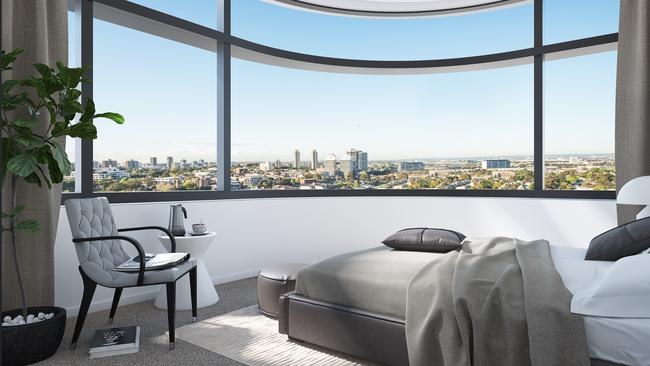 How the bedrooms will look at Duo at Central Park. Fancy (well, if you can afford the furniture to go with it).