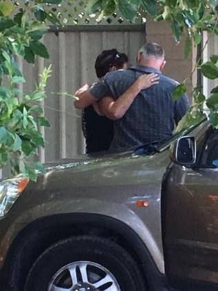 "Emotional scenes at the Gold Coast property. Picture:  <a href=""https://twitter.com/tomforbesGC"" title=""twitter.com"">Tom Forbes/Twitter</a>"