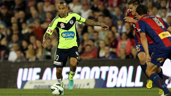 Victory's Archie Thompson scored the lone goal for his side. Picture: Liam Driver