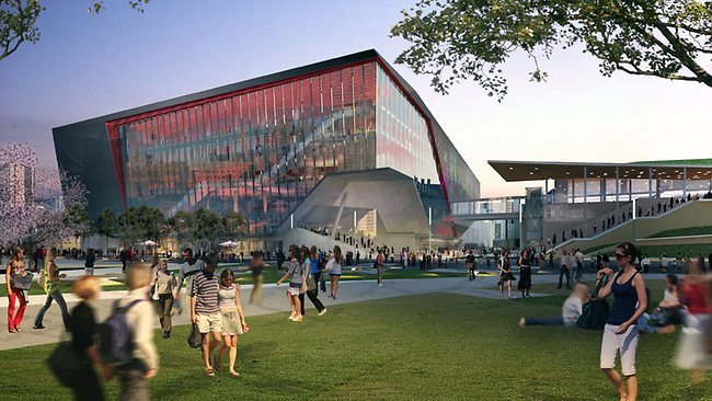 An artist impression of the revitalisation of Darling Harbour, Theatre. Picture courtesy of Darling Harbour Live
