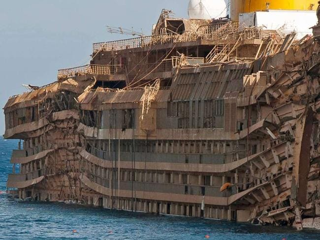 Costa Concordia In 2016 Eerie Photos Inside The Ghost Ship