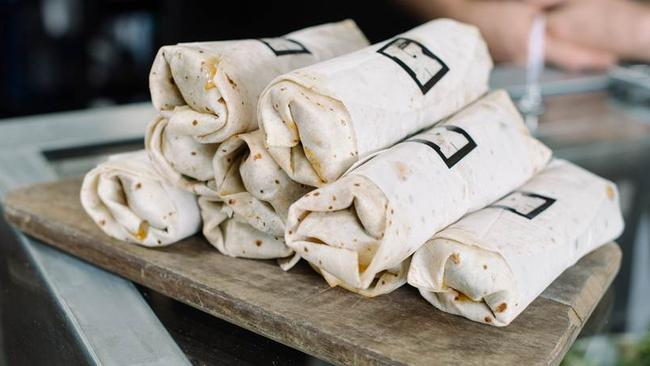 Wraps on offer at Kitchen By Mike.