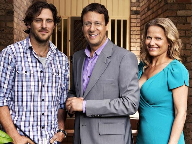 Selling Houses Australia hosts Charlie Albone, Andrew Winter and Shaynna Blaze Picture: Foxtel