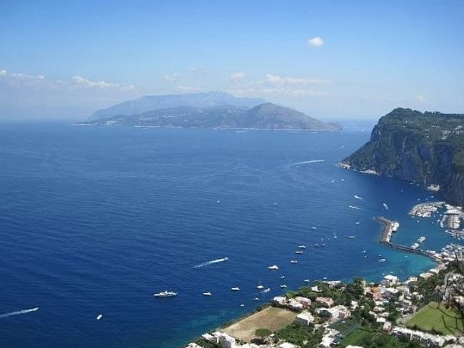 The view of Capri, midway through a climb up the island's tallest mountain.