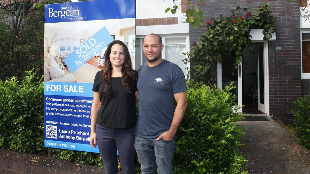 Gabi and Joey Stephen have been able to secure a $1.1 million dream home thanks to the investment she made in her mid-twenties. Picture: Annika Enderborg