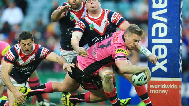 Bryce Cartwright showed he's another young gun with a bright future against the Roosters. Pic: Mark Evans
