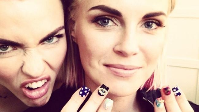 Online attack... Engaged couple Ruby Rose and fiance Phoebe Dahl have been the target of an online troll. Picture: Instagram