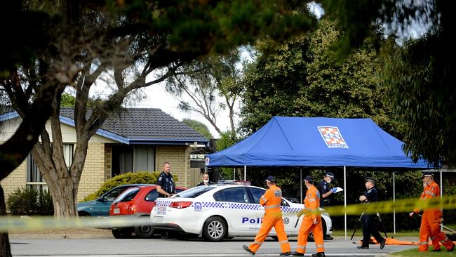 Police investigate a suspicious death at Fremantle Road, Port Noarlunga South. Pic: Noelle Bobrige