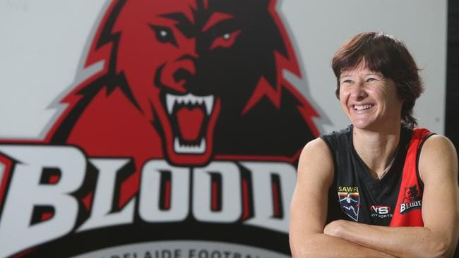 On Saturday Catherine Mulvihill will become the first woman to play 300 games in the South Australian Womens Football League. Picture: Tait Schmaal