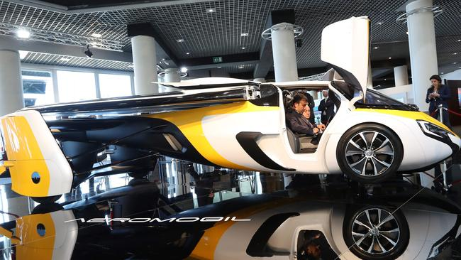 The Aeromobil, a flying supercar is on display. Picture: Valery Hache