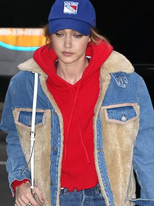 Gigi Hadid steps out alone in New York on 12 Mar 2018. Picture: MEGA