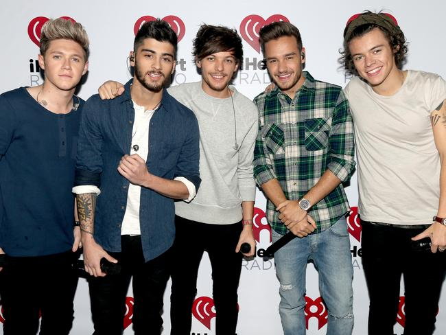 Old school: Niall Horan with former band One Direction. Pic: Getty Images