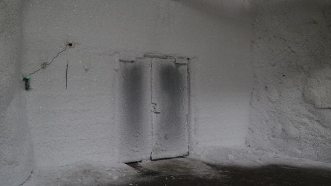 The door to the Global Seed Vault in Norway is kept closed to ensure the temperature inside the vault remains at -18 degrees Celsius. Picture: David Keyton