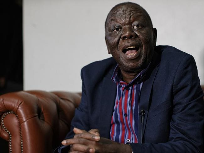 Zimbabwe opposition leader Morgan Tsvangirai. Picture: AP