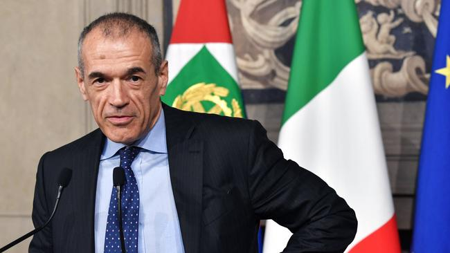 Carlo Cottarelli has been given a mandate to form a government. Picture: AFP