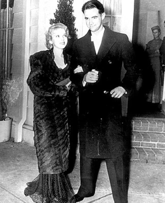 Ida Lupino with Howard Hughes in 1940.