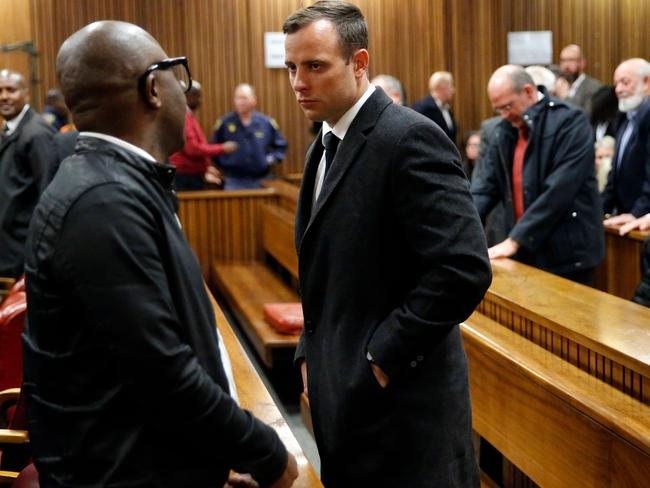 Oscar Pistorius during his trial over Reeva Steenkamp's death. Picture: AFP/Marco Longari