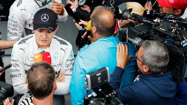 Rosberg and Hamilton will be swamped by the media in Monza.