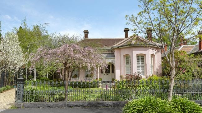 The unassuming facade at 42 Hawthorn Grove, Hawthorn, gives little hint of the domed ceiling and ballroom within.