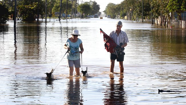 Judy and Rod Blanchard live on a houseboat on the Fitzroy River and are on their way to work. Picture: Tim Marsden